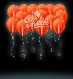 """Светящиеся шары под потолок """"Оранжевые"""", 36 см"""