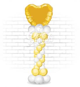 "Пойнт ""Золотое сердце"", на каркасе"