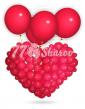 Сердце плетеное Красное