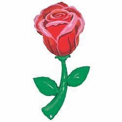 "Фигура фольга ""Цветок роза"""