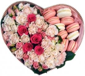 Розы Сердце с Макаронс