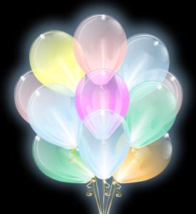 """Светящиеся шары Облако """"Прозрачные"""", Диод разноцветный"""