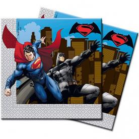 Салфетки Бэтмен Vs Супермен, 20 штук