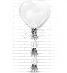 "Шар сердце латекс ""Белый гигант гигант"",на тассел гирлянда"