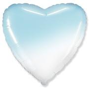 """Сердце фольга """"Голубой градиент"""""""