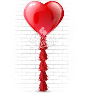 """Шар сердце латекс """"Красный гигант"""",на тассел гирлянда"""