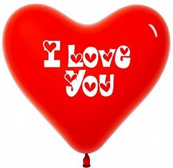 "Сердце латекс ""I Love You"", 41 см"