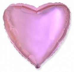 Шар Сердце фольга светло-розовый 46 см