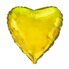 Шар Сердце фольга золото 46 см