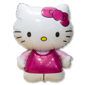 "Шар Фигура фольга ""Hello Kitty"" розовая"