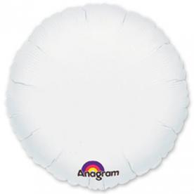 Шар Круг фольга белый 46 см