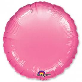Шар Круг фольга розовый 46 см