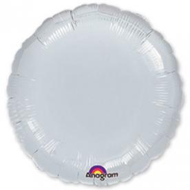 Шар-круг серебро 46 см