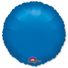 Шар Круг фольга синий 46 см