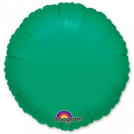Шар Круг фольга зеленый 46 см