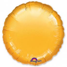Шар Круг фольга золото 46 см