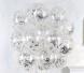 Прозрачный шар с конфетти звезды серебро, 36 см