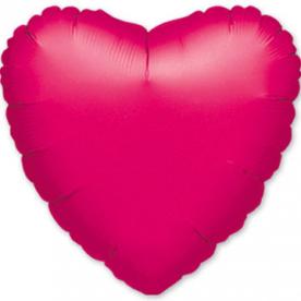 Шар Сердце фольга фуксия 46 см