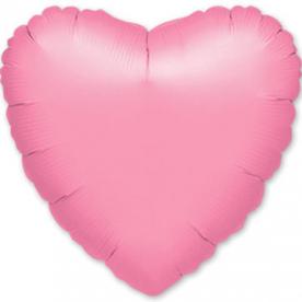 Шар Сердце фольга розовое 46 см
