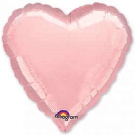 Шар Сердце фольга розовый 46 см