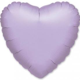 Шар Сердце фольга сиреневый 46 см