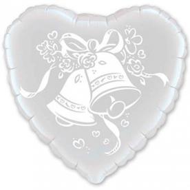 """Шарик 18"""" Колокольчики Свадебные"""
