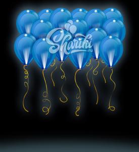 """Светящиеся шары под потолок """"Синие"""", 14""""/36 см"""