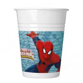 """Стаканы """"Человек паук великий"""",200мл,8шт"""