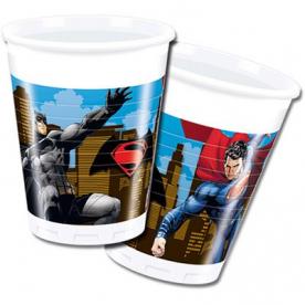 Стаканы Бетмен и Супермен 8 шт.