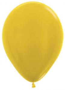 Стандартный шар Желтый, Металлик, 36 см