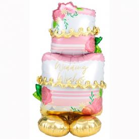 """Фигура фольга """"Свадебный торт"""", 149 см"""