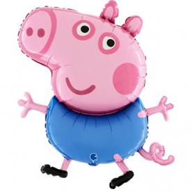 "Фигура фольга ""Свинка пеппа,Джордж"""