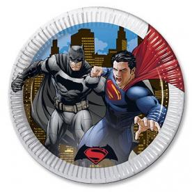 Тарелки Бэтмен и Супермен 8шт