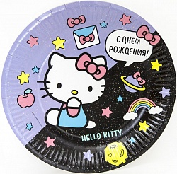 Тарелка Hello Kitty, 23 см, 6 штук