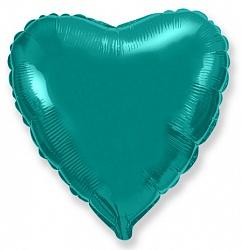 Шар Сердце фольга тиффани 46 см