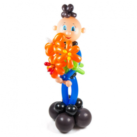 """Фигура из шаров """"Кавалер"""",на каркасе"""