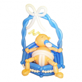 """Фигура из шаров """"Малыш в корзинке"""""""