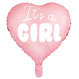 "Шар сердце ""IT'S A GIRL"""
