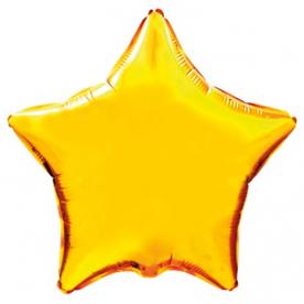 "Шар Звезда фольга ""Золото"", 46 см."