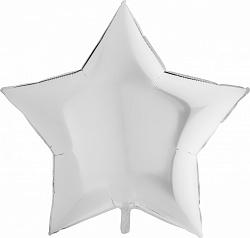 """Шар Звезда фольга """"Белый"""" 46 см"""