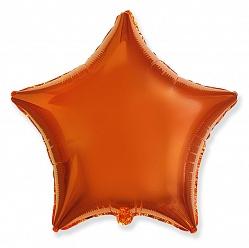 """Шар Звезда фольга """"Оранжевый"""", 46 см."""