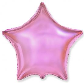 """Шар Звезда фольга """"Розовый металлик"""", 46 см."""